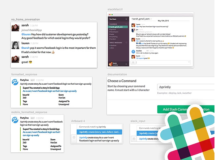The interface of Slack, a free HR tool
