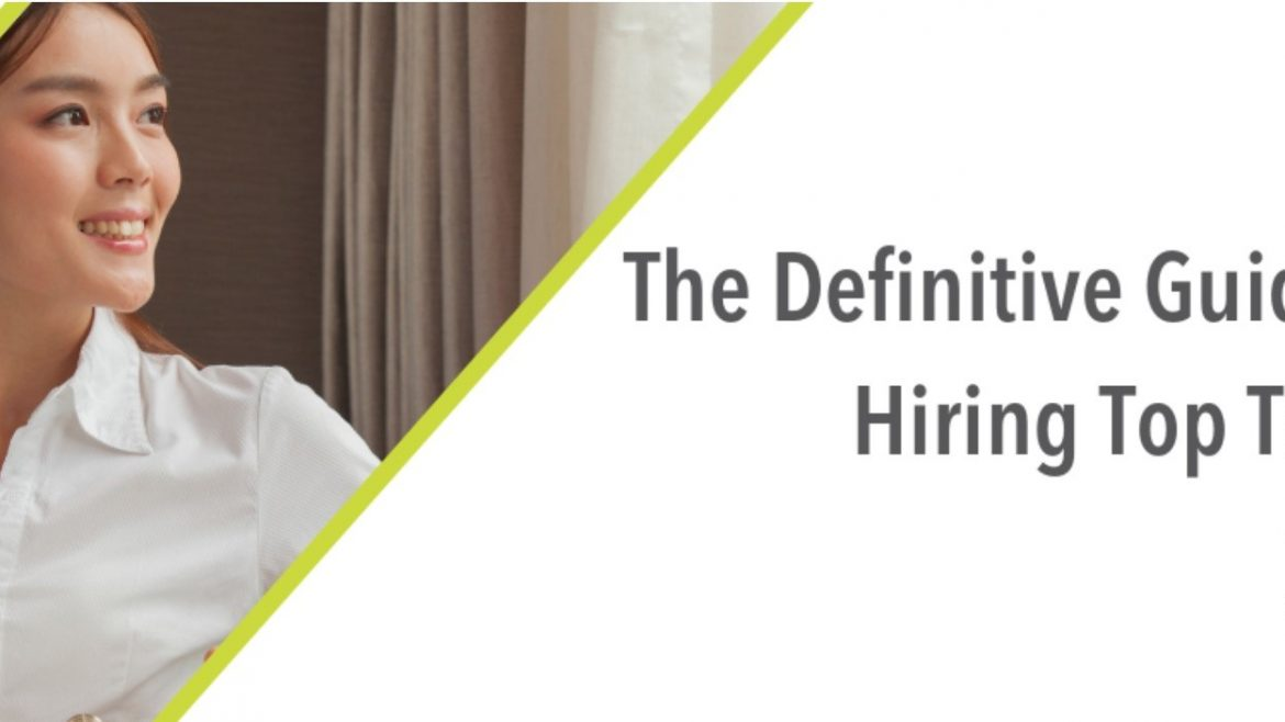 """A woman smiling and text reading """"The Definitive Guide to Hiring Top Talent: Riia O'Donnell"""""""