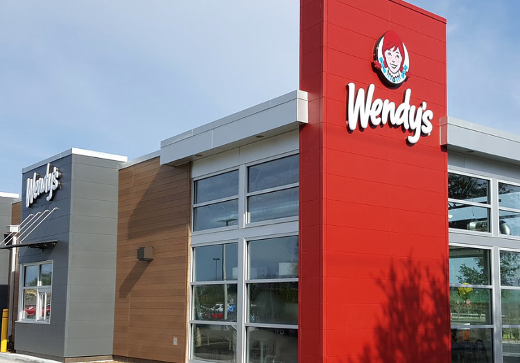 The exterior of a Wendy's QSR restaurant