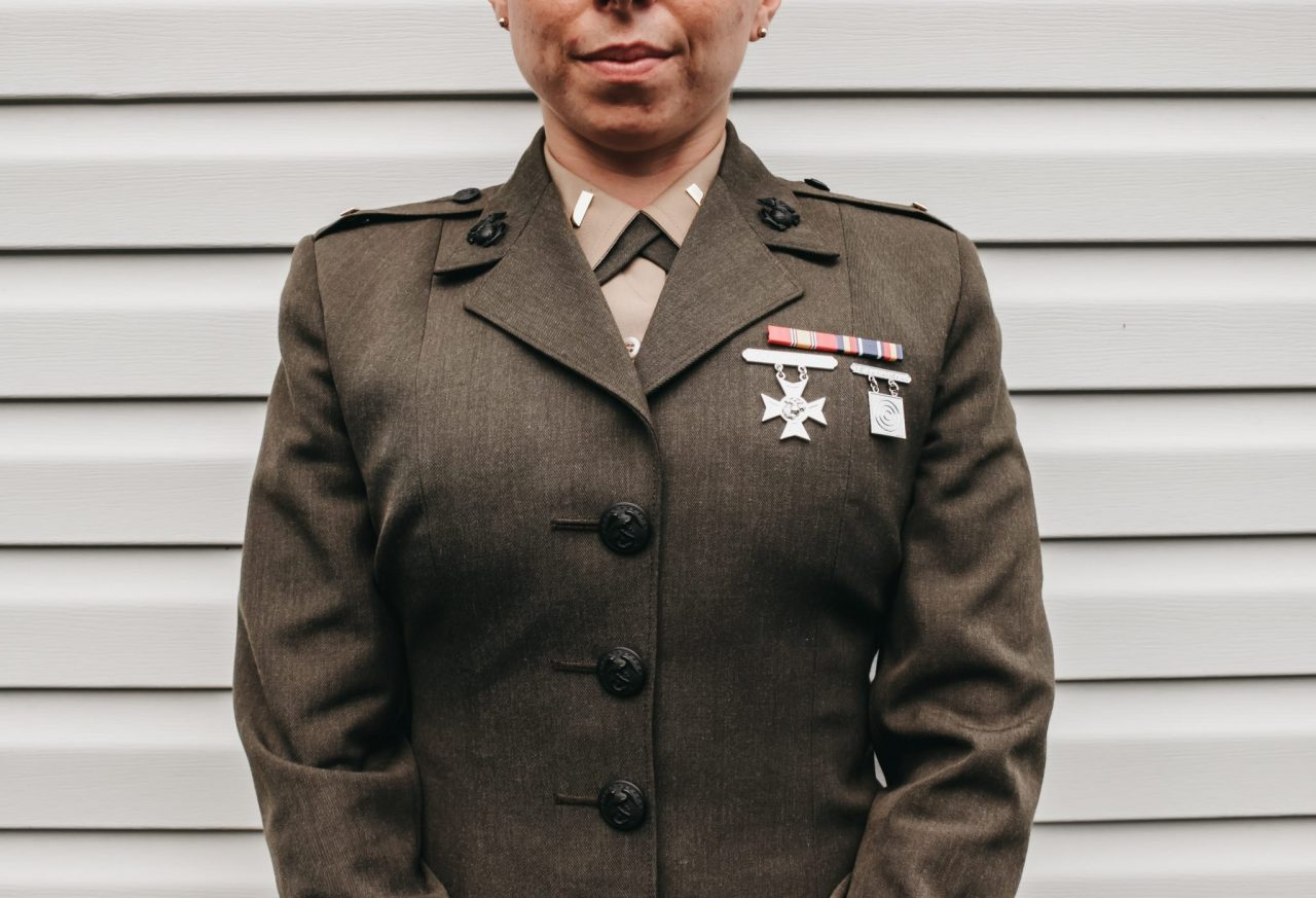 A veteran in uniform