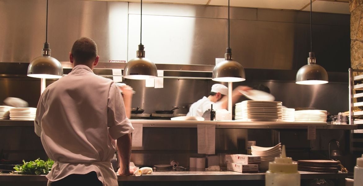 Chefs in the kitchen of a restaurant