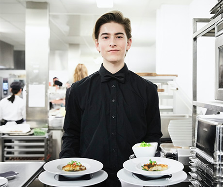 waiter with plates