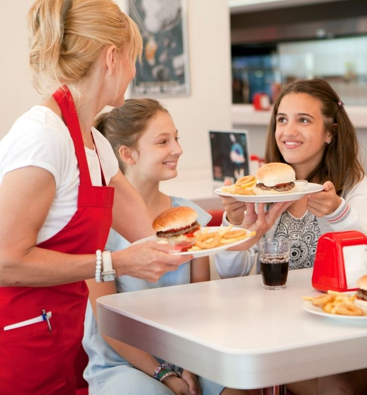 A quick-service restaurant worker