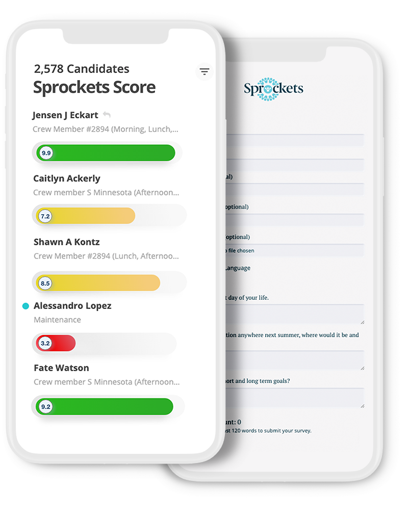 Cellphones with fit scores to help with recruiting employees